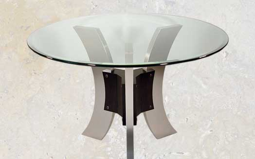 metal base dining room table