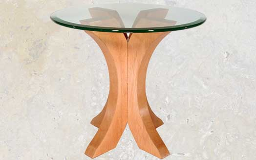 contemporary glass top end table