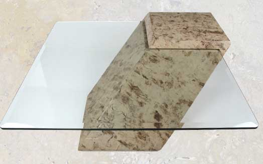 122ct   Contemporary Cantilever Top Coffee Table