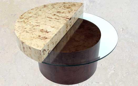 Unique Half Moon Coffee Table