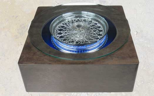 102wct   Square Wheel Coffee Table